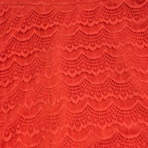 Jessica Simpson Dresses - Coral Jessica Simpson Open Back Lace Dress